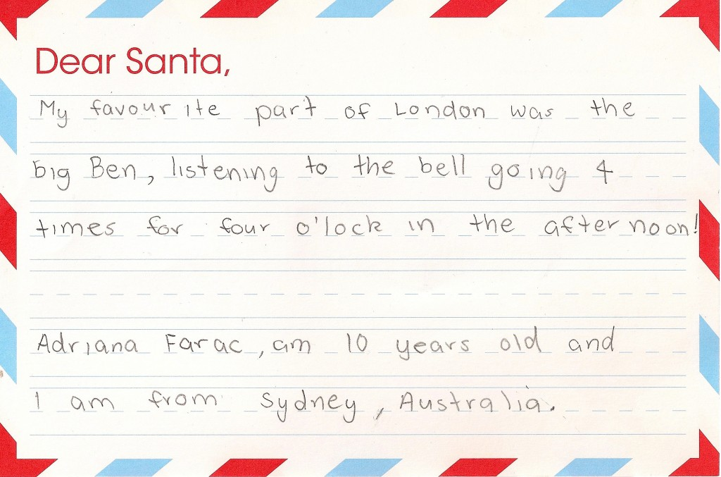 Best letters to father christmas on the lmt christmas tour 2011 the santa spiritdancerdesigns Gallery