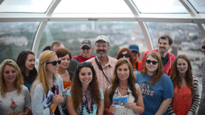 Amarillo Central Church of Christ Group from Texas, USA on the London Eye (July 2013)