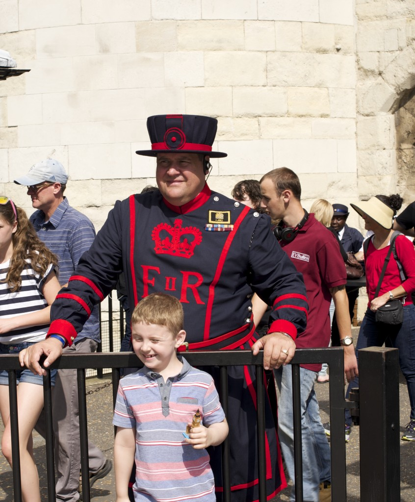 Kids Visiting Tower of London