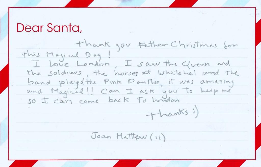 Dear Santa Winner