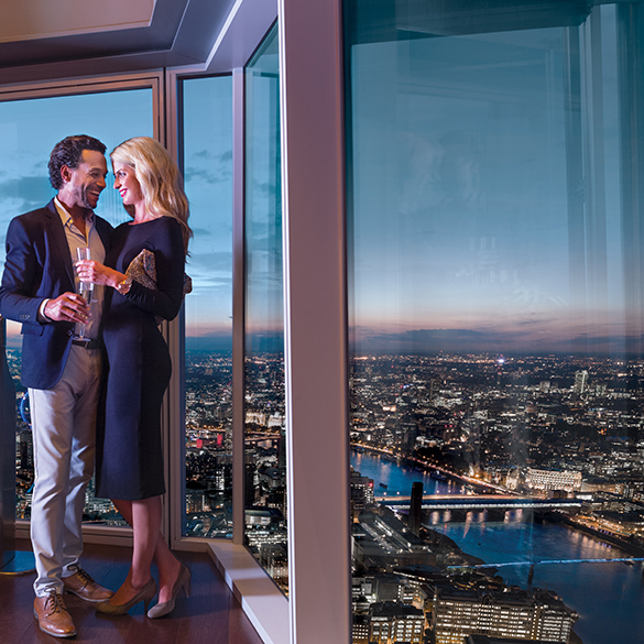 Enjoy the breathtaking views London has to offer this Valentines day