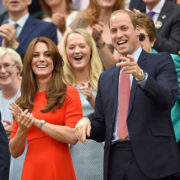 Royal visitors Kate and William enjoy the tennis at Wimbledon
