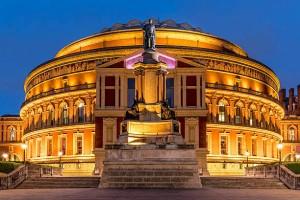 Royal Albert Hall in London, United Kingdom at night