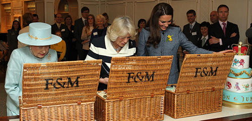 Her Majesty The Queen with their Royal Highnesses the Duchess of Cornwall and the Duchess of Cambridge